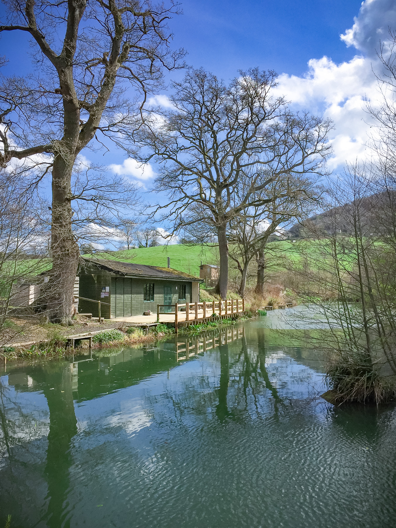 Painswick Glamping – Fishing Lodge and Mill Pool