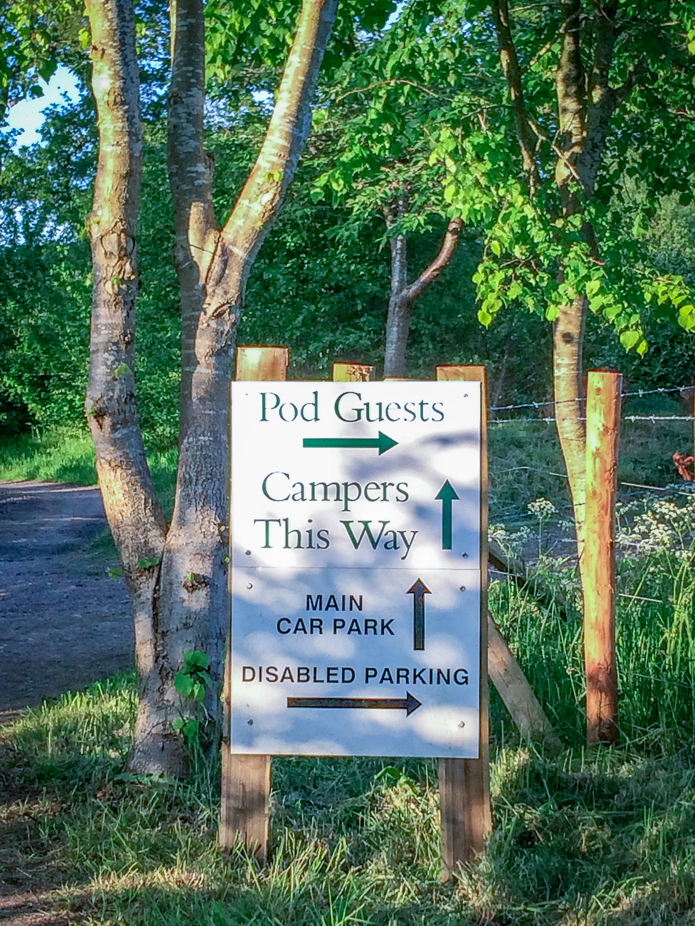 Painswick Glamping Parking Directions