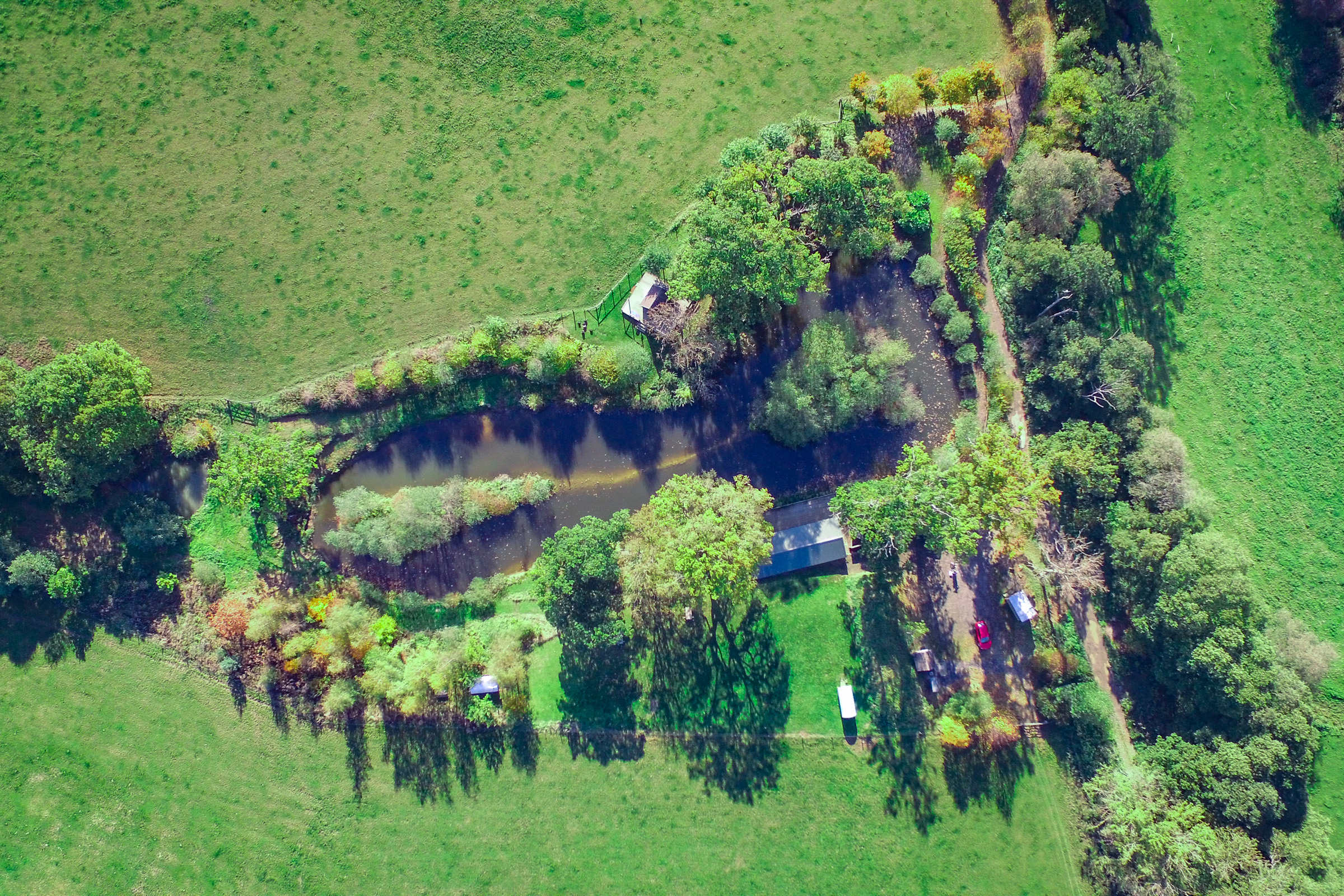 Painswick Glamping – Campsite from above